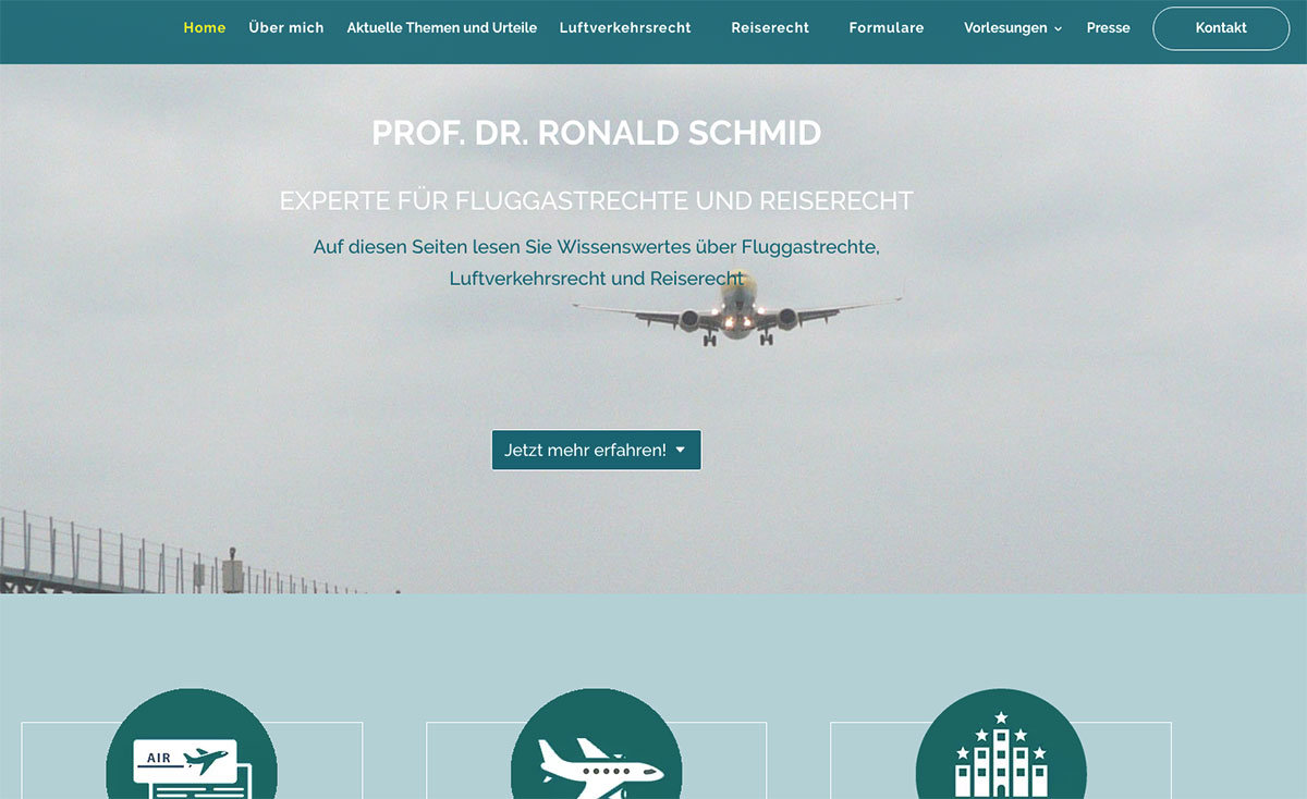 Website Prof. Dr. Ronald Schmid
